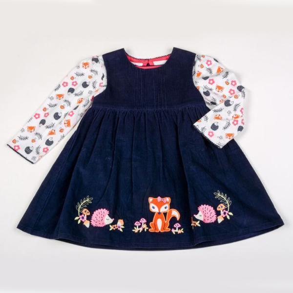 All about Emma Corduroy Pinafore and long sleeve top set