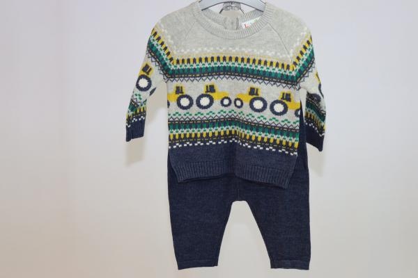 Baby Boys Fabulous Knitted Trousers and Jumper Set