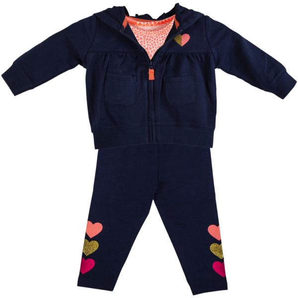 Baby Girls 3 piece tracksuit and romper set