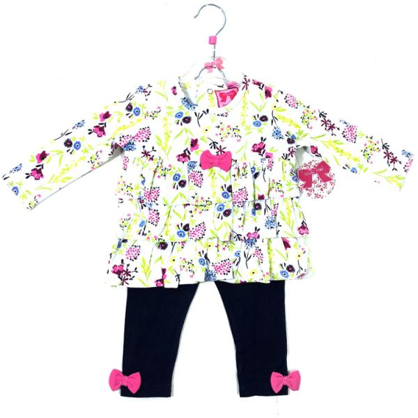 Baby Girls Bright and Colourful Floral Tunic & Leggings set