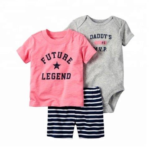 3 Piece Romper Set with Shorts & T-Shirt