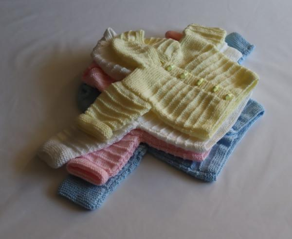 Baby Hand Knitted Cardigan with Hood