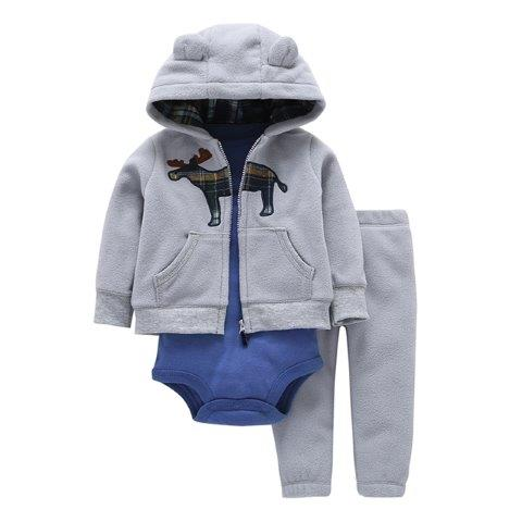 Baby Girl and Boy 3 piece Romper Sets