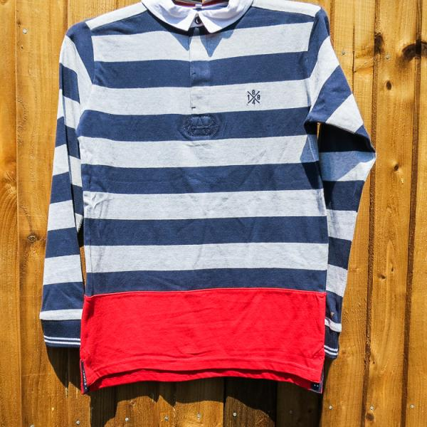 Boys Stripped Rugby Top