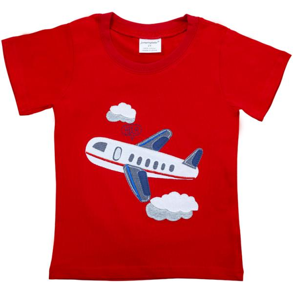Boys Summer T-Shirt with Airplane Design