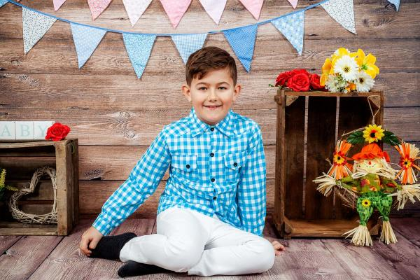 Boys Summer Trousers and Shirt Set