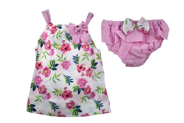 Baby Girl Cute Pink Dress with Matching Knickers