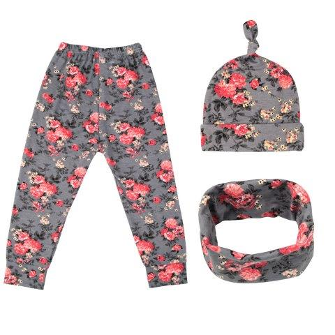 Baby Girl Leggings, Hat and Scarf Set