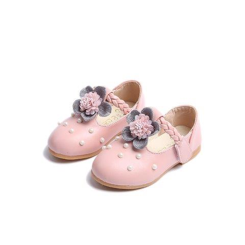 Girls Shoes with Pearl and details front