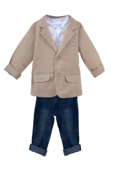 Boys Fashion Jeans with Top and Dress Jacket