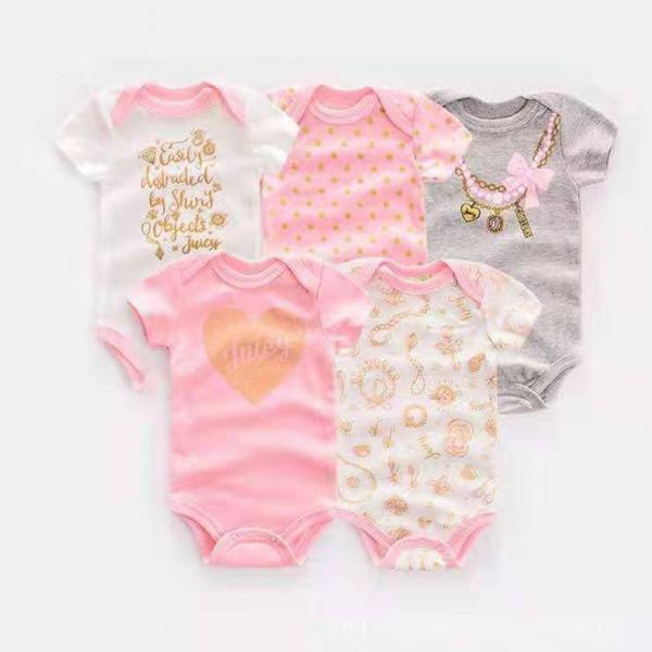 Girls princess pink body suit 5pc multipack