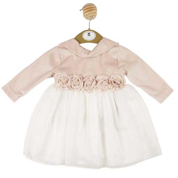 MINTINI BABY - Rose Gold dress with white sparkly skirt and flower detail