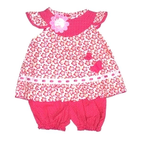 Baby Girl Dress and Bloomer set with Butterfly Detail