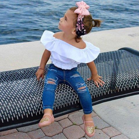 Girls Denim Jeans with Gypsy Style Top