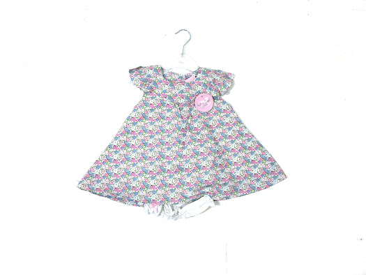 Baby Girls Floral Dress & Knickers Set