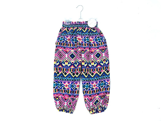 Girls Patterned Multicolour Comfy Loose fitting Trousers