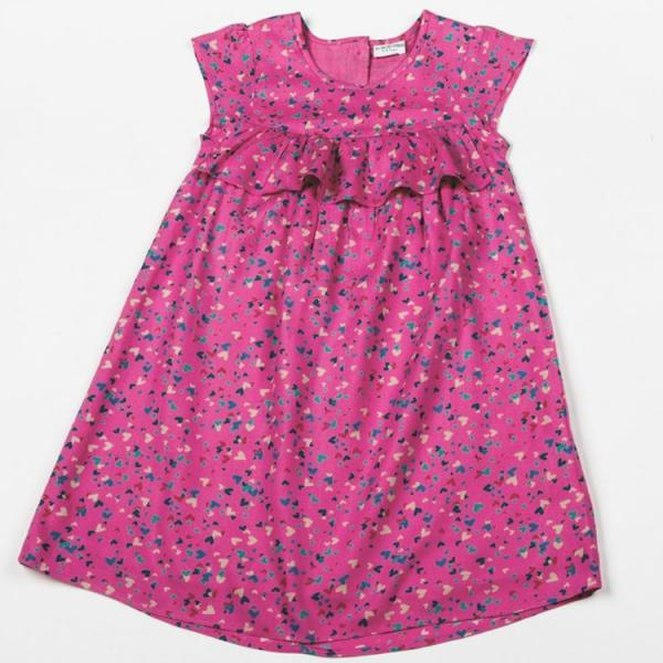 Kids-Girls All about Emma Pink Lined Dress with Hearts