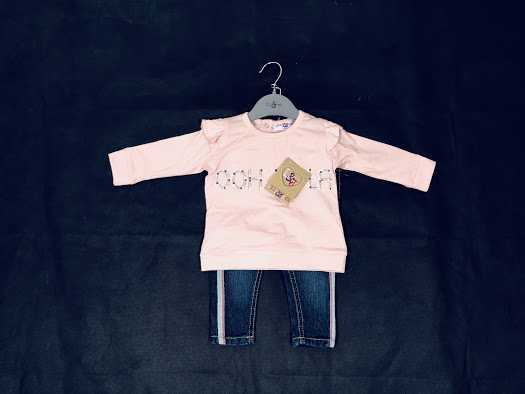 Lily & Jack ooh Lala Baby Girls Top & Jeans Set