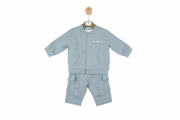 Mintini Baby Boys Tracksuit with train detail