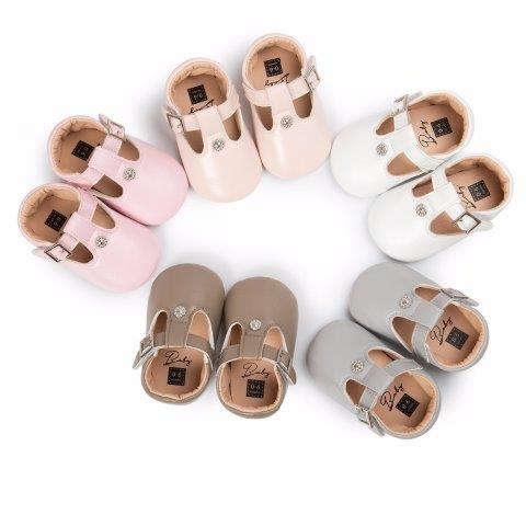 Baby New Born PU soft Leather Shoes